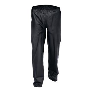 Pantalons de pluie en stretch PU taille M noir tissu de coton ASATEX