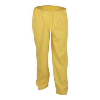 Pantalons de pluie en stretch PU taille S jaune tissu de coton ASATEX