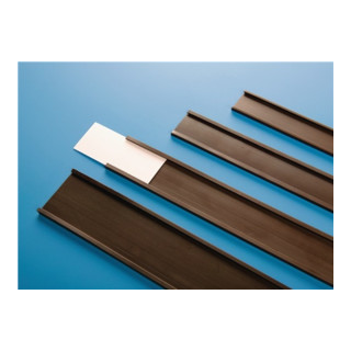 Papieretiketten/Klarsichtfolie B.17mm f. magn.C-Profil B.20 mm MAGNETOPLAN