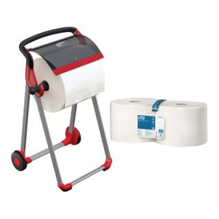Papierspender-Set 1 Bodenständer 9000469206+4 Rll. Tork Papierwischtücher