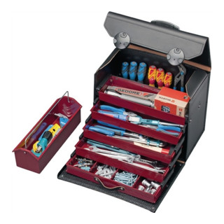Parat Werkzeugtasche Rindleder mit 5 Schubladen, 410x220x310mm