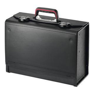 Paratleder Werkzeugtasche Rindleder ABS, schwarz, 420x185x315mm