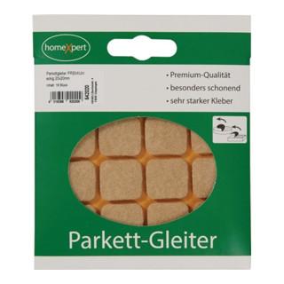 Parkettgleiter Premium 20 x 20mm Filz natur eck.selbstkl.