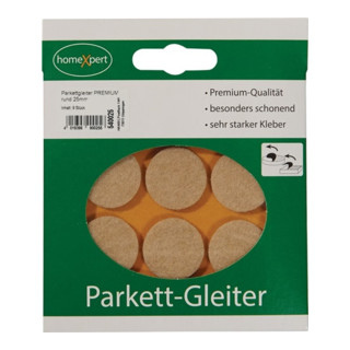 Parkettgleiter Premium 25mm Filz natur rd.selbstkl.
