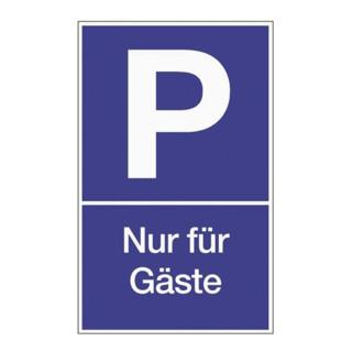 Parkplatzbeschilderung Parken für Gäste L250xB400mm blau/weiß Ku.