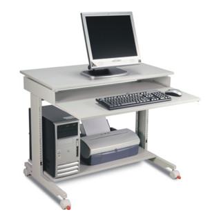 PC-Arbeitstisch grau H.720-1100xB.900xT.500mm