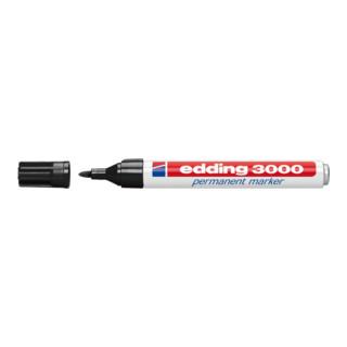 Permanentmarker EDDING 3000 schwarz Rundspitze Strichbreite ca.1,5-3mm