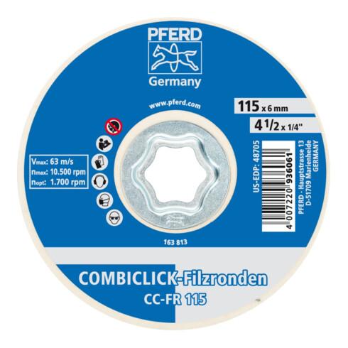 PFERD COMBICLICK Filzronde CC-FR