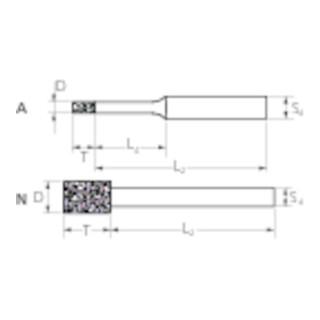 PFERD Diamant-Schleifstift DZY-A 3,0-4/3 D 126
