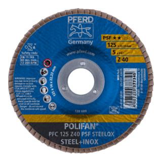 PFERD Fächerscheibe PFC 125 Z 40 PSF STEELOX WINPACK DE
