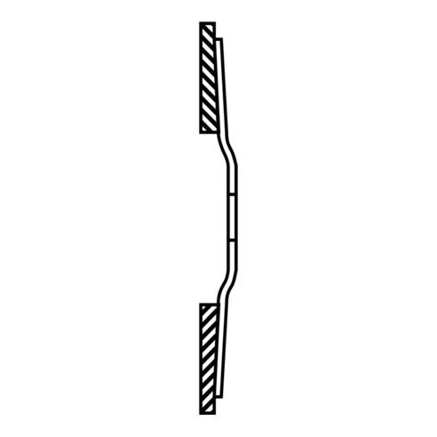 PFERD Fächerschleifsch. gerade 125mm A 60 SG -COOL