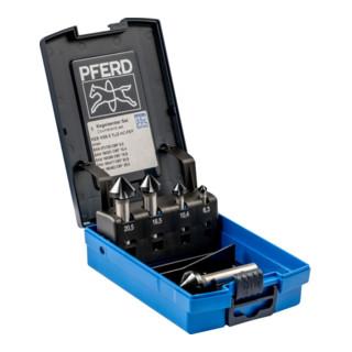 PFERD Kegelsenker-Set HSS DIN 335 C90 Grad, HC-FEP, Außendurchmesser 5 mm