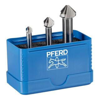 PFERD Kegelsenker-Set HSSE DIN 335 C90 Grad, Außendurchmesser 3 mm