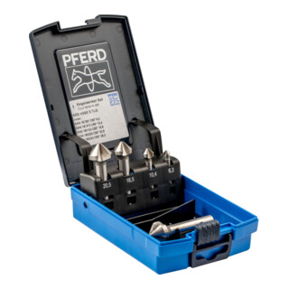 PFERD Kegelsenker-Set HSSE DIN 335 C90 Grad, Außendurchmesser 5 mm