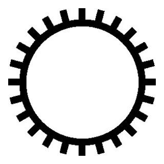 PFERD Kettensägefeile, rund, Länge 200mm