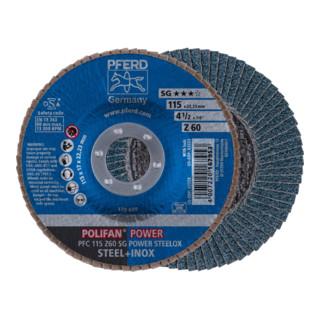 PFERD POLIFAN-Fächerscheibe PFC 115 Z60 SG POWER STEELOX