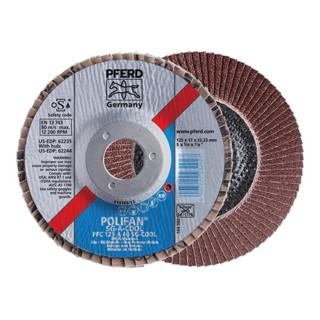 PFERD POLIFAN-Fächerscheibe PFC 125 A-COOL 80 SG INOX+ALU