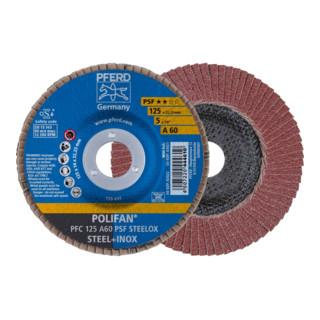 PFERD POLIFAN-Fächerscheibe PFC 125 A60 PSF STEELOX