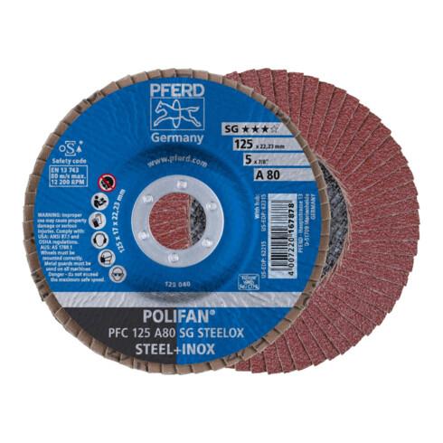 PFERD POLIFAN-Fächerscheibe PFC 125 A80 SG STEELOX