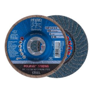 PFERD POLIFAN-Fächerscheibe PFC 125 Z36 SGP STRONG STEEL