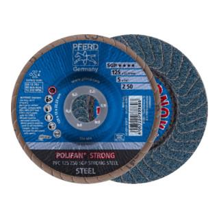 PFERD POLIFAN-Fächerscheibe PFC 125 Z50 SGP STRONG STEEL
