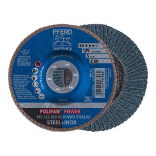 PFERD POLIFAN-Fächerscheibe PFC 125 Z60 SG POWER STEELOX