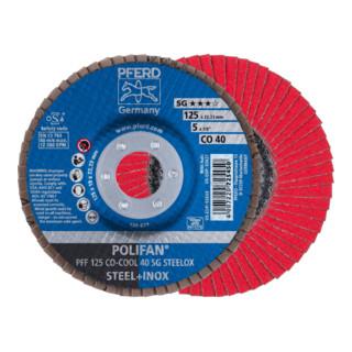 PFERD POLIFAN-Fächerscheibe PFF 125 CO-COOL 40 SG STEELOX