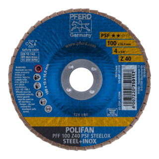 PFERD POLIFAN-Fächerscheibe PFF  Z PSF STEELOX /16,0