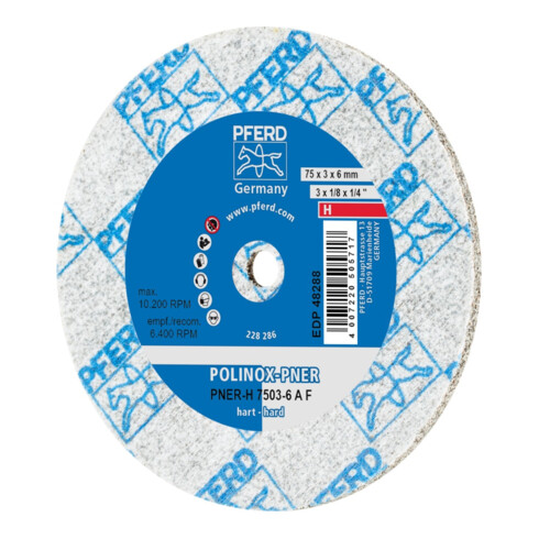 PFERD POLINOX-Kompaktschleifrad PNER-H 7503-6 A F fein 3 mm