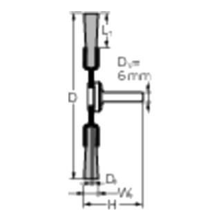 PFERD Rundbürste mit Schaft, gezopft RBG 7012/6 ST 0,35