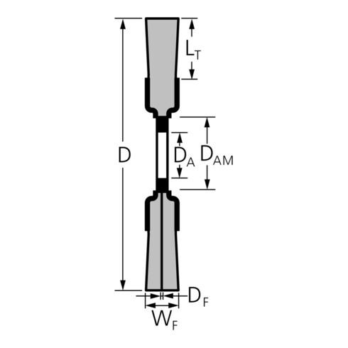 PFERD Rundbürste, ungezopft POS RBU 20025/AK32-2 ST 0,20 gewellter Draht