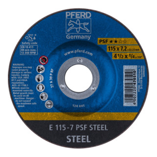PFERD Schruppscheibe E 115-7 PSF STEEL