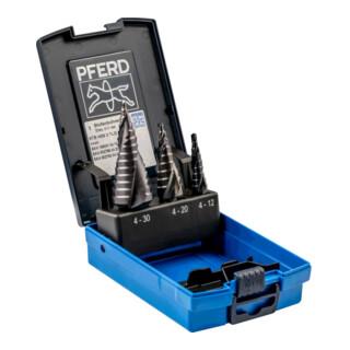 PFERD Stufenbohrer-Set HSS HC-FEP 3