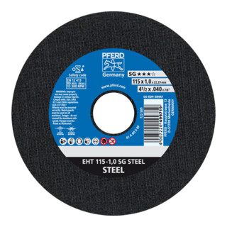 PFERD Trennscheibe EHT 115-1,0 SG STEEL