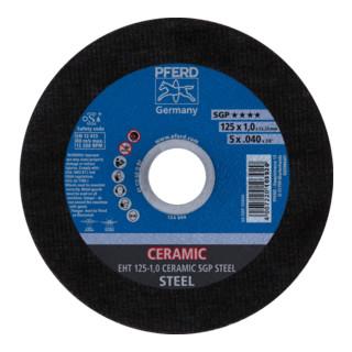 PFERD Trennscheibe EHT 125-1,0 CERAMIC SGP STEEL