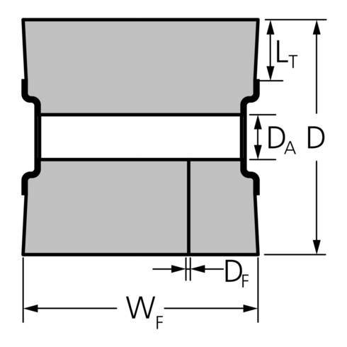 PFERD Walzenbürste für Satiniermaschinen, ungezopft WBU 100100/19,1 SiC 80 1,27