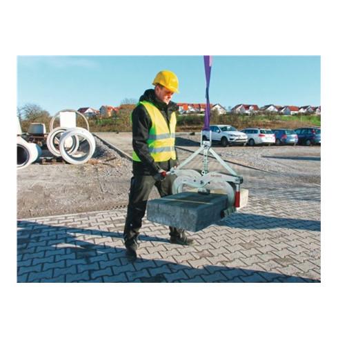 Pince de levage de blocs de béton Probst EXG-Maxi zone d'atteinte 0-400 mm