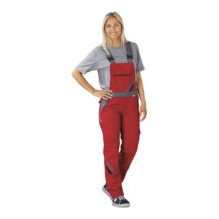 Planam Latzhose Highline Damen rot/schiefer 48