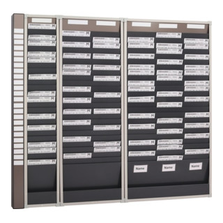 Planungstafel H750xB490xT75mm 2 Reihen Mit 10 Fächern