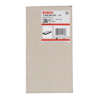 Plaque abrasive Bosch 185 x 93 mm pour GSS 230 A GSS 230 AE avec fermeture Velcro