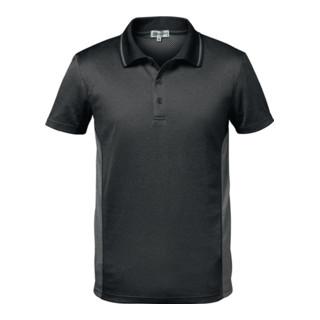 Polo fonctionnel CORDOBA taille XL gris foncé/gris clair 100 % PES FELDTMANN