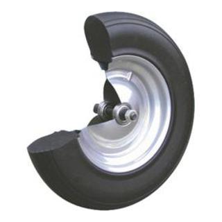 Polymeres Rad m.Achse u.Kugell.D.400mm Radbreite 100mm