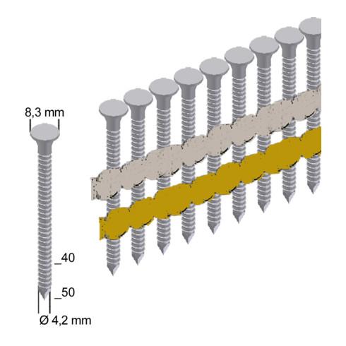 Prebena Ankernägel ANK40/40NKRI verzinkt ring Länge 40 mm