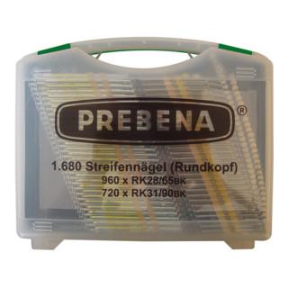 Prebena Rundkopfnägel im Handwerker-Koffer RK-BOX
