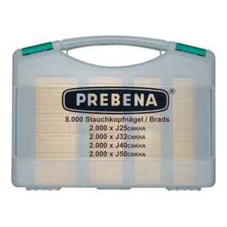 Prebena Stauchkopfnägel (Brads) im Handwerker-Koffer J-BOX
