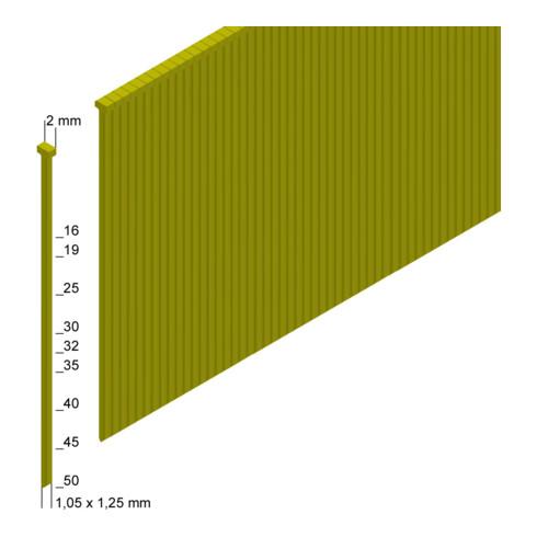Prebena Stauchkopfnägel (Brads) J50CNKHA verzinkt geharzt Länge 50 mm