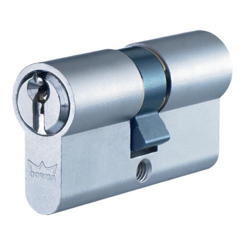 Profil-Doppelzylinder DEC150 1303 L. A 35mm L. B 60mm Messing matt vernickelt