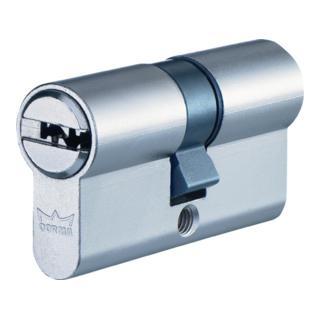 Profil-Doppelzylinder DEC260 1303 L. A 45mm L. B 55mm Messing matt vernickelt