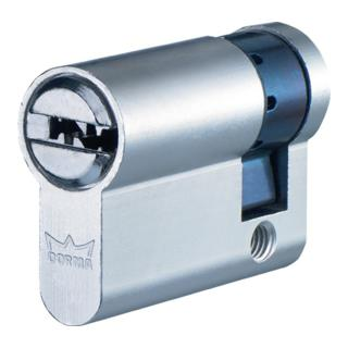 Profil-Halbzylinder DEC260 1303 L. A 40mm L. B 10mm Messing matt vernickelt