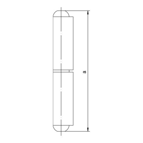 Profilrolle KO 40 z.Anschweißen Bandlänge 160mm STA blk Simonswerk
